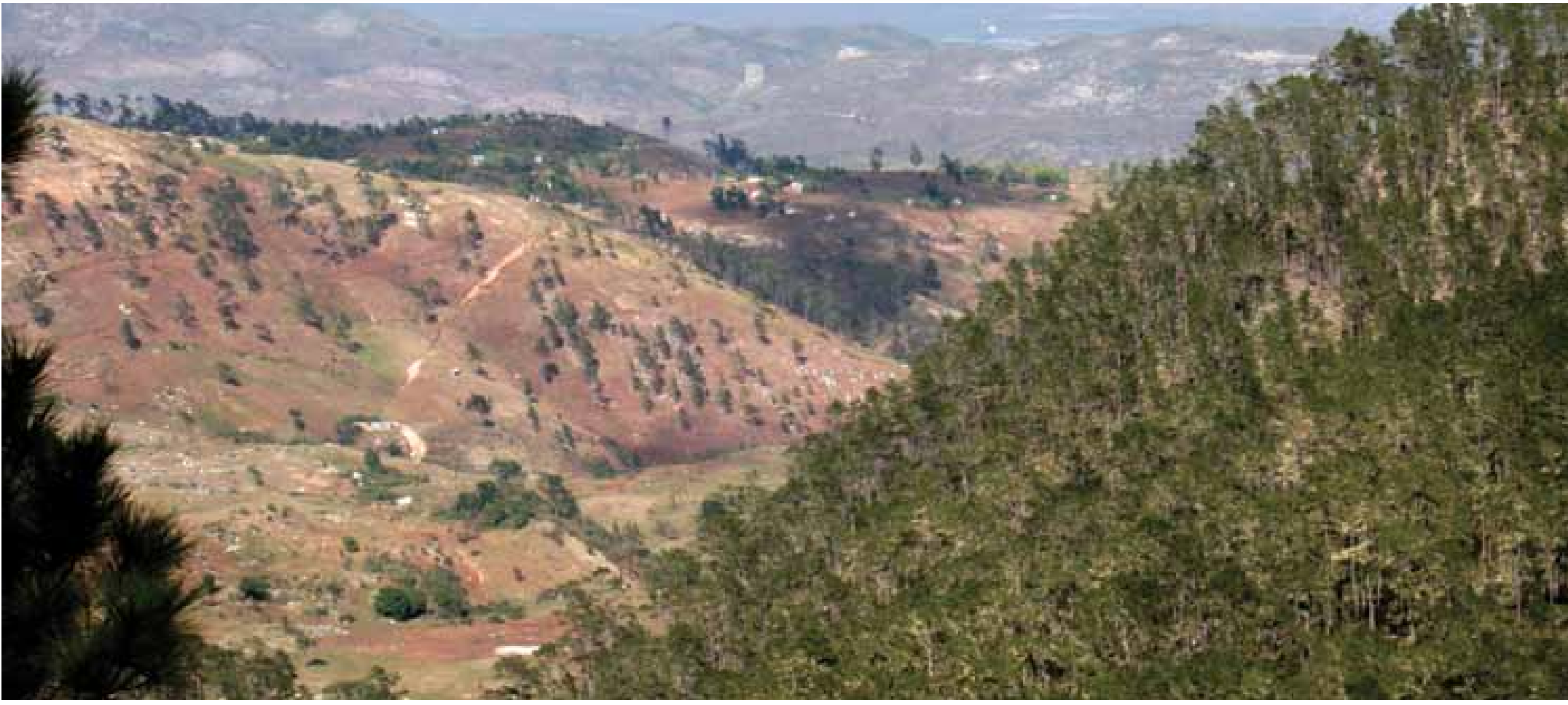 Deforestation in Haiti at border with Dominican Republic