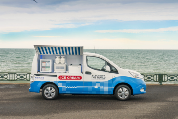 photo of Electric Ice Cream Van Concept Vehicle Created By Nissan image