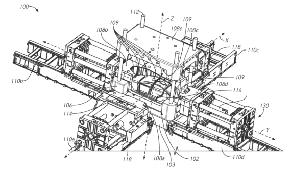 tesla files patent application for die