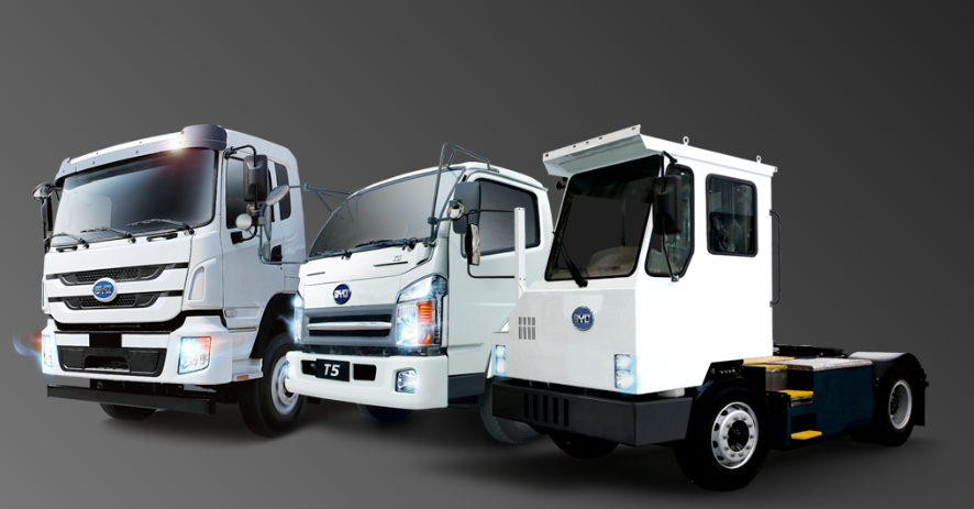 BYD electric truck lineup