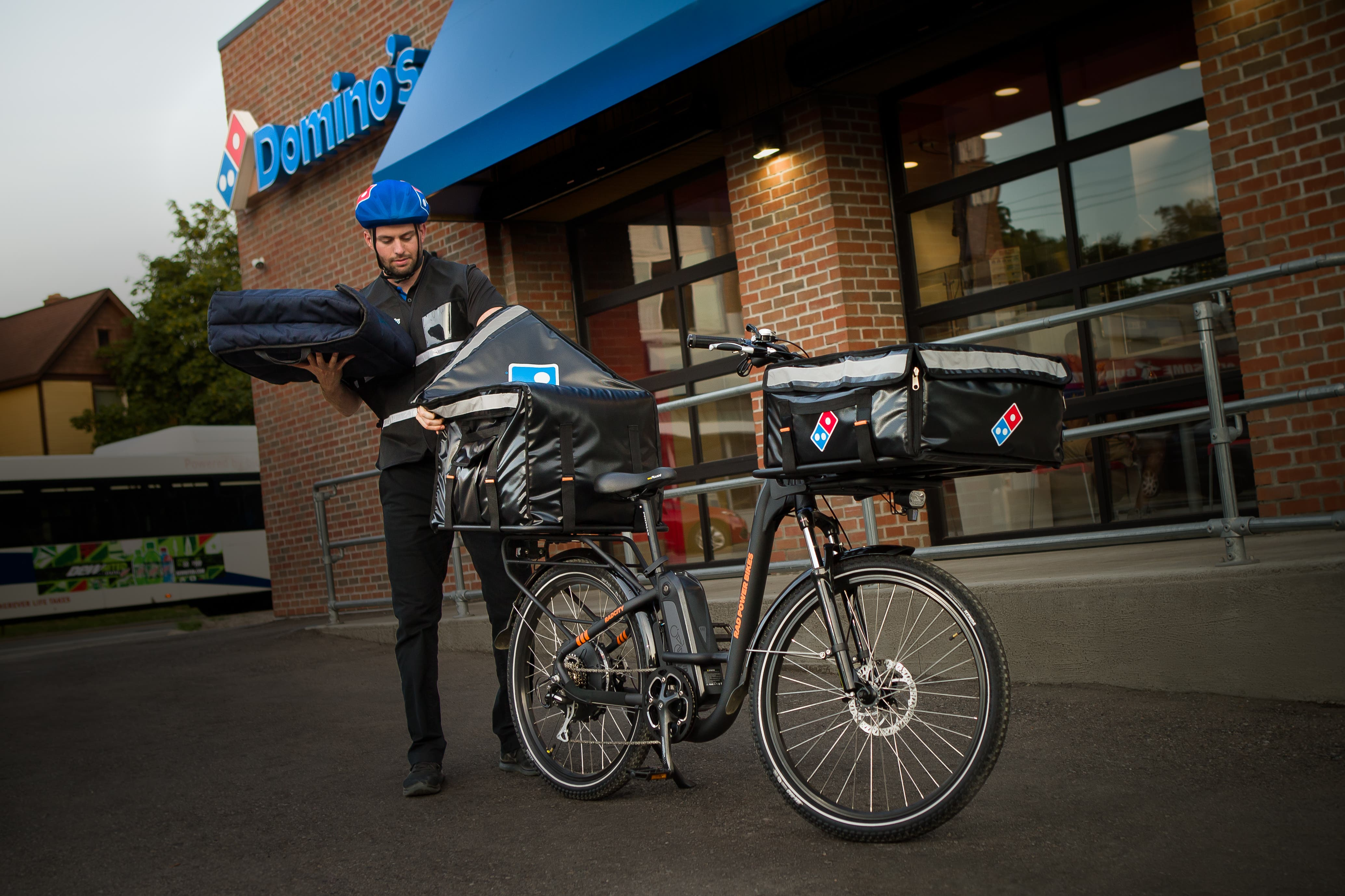photo of Hot! Domino's Pizza Partners With Rad Power Bikes For Pedal-Powered Pizza Delivery image