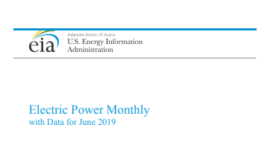 EIA report on coal in US