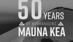 Screenshot: Fifty Years of Mismanaging Mauna Kea