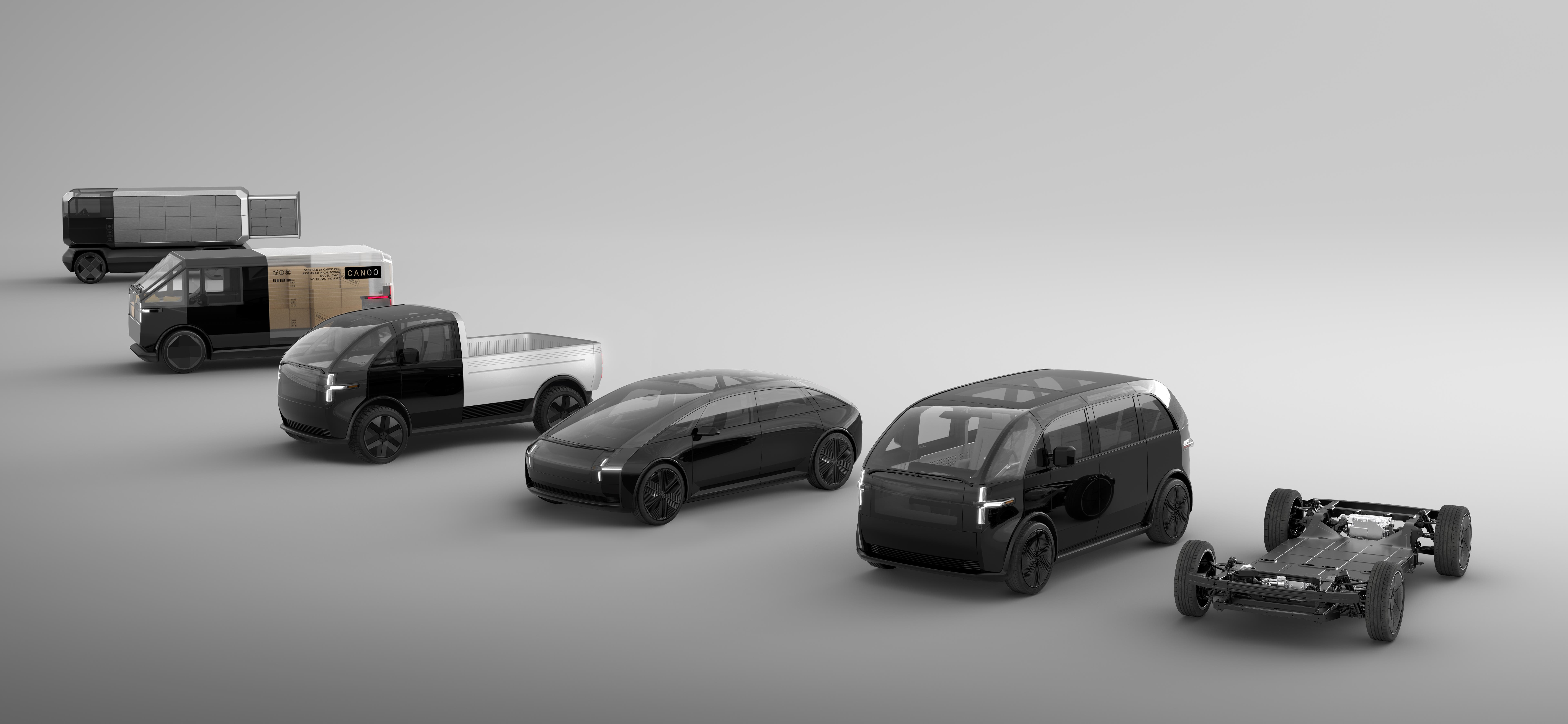 Canoo concept vehicles