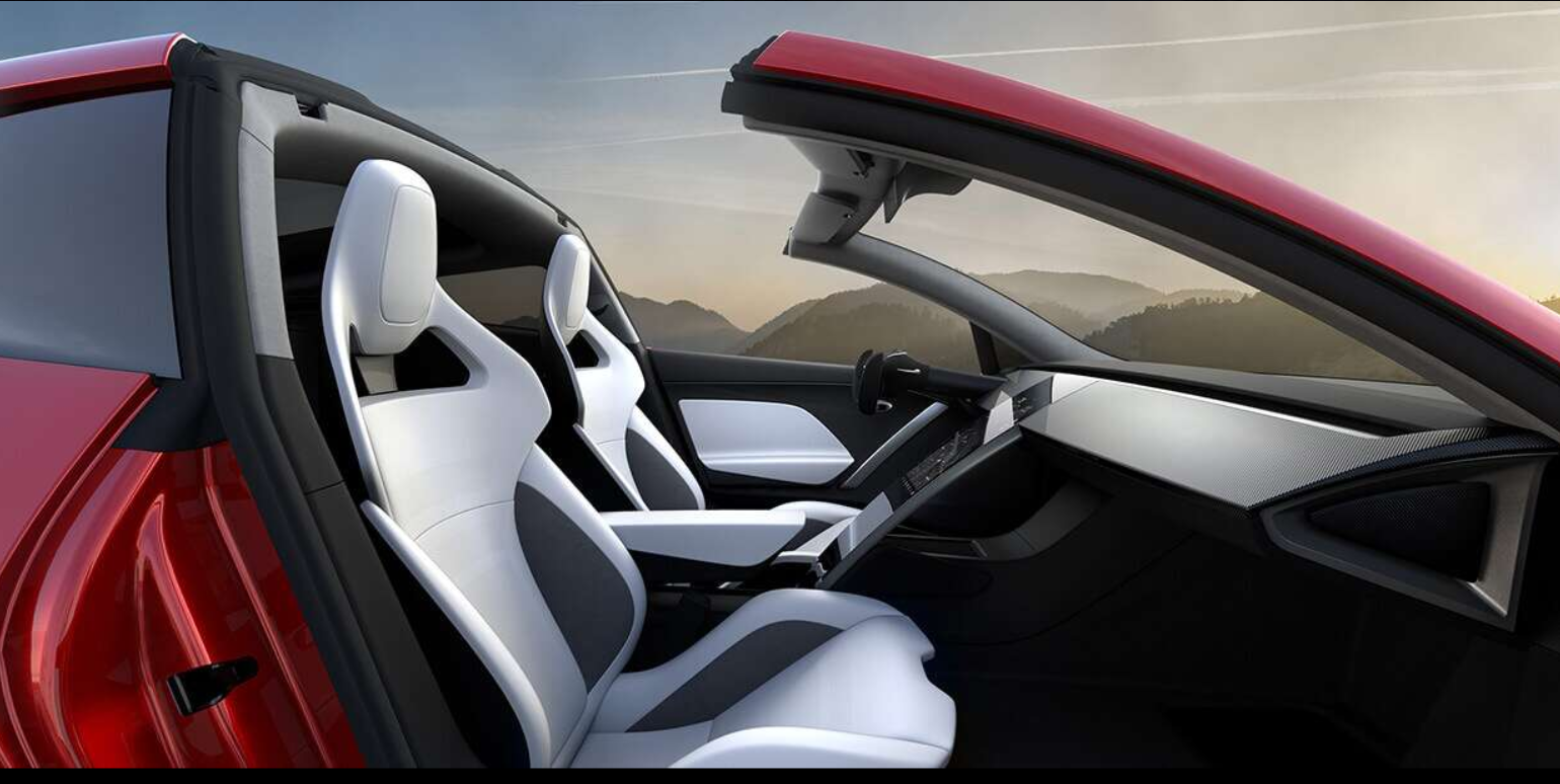 photo of Beautiful Tesla Roadster Ad Created By Billy Crammer image