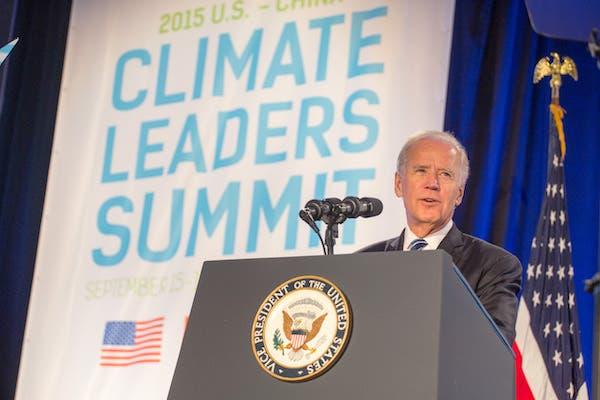 Joe Biden addressing 2015 Climate Leaders Summit