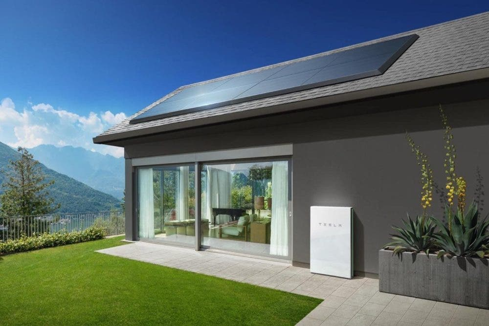 Tesla solar home and Powerwall