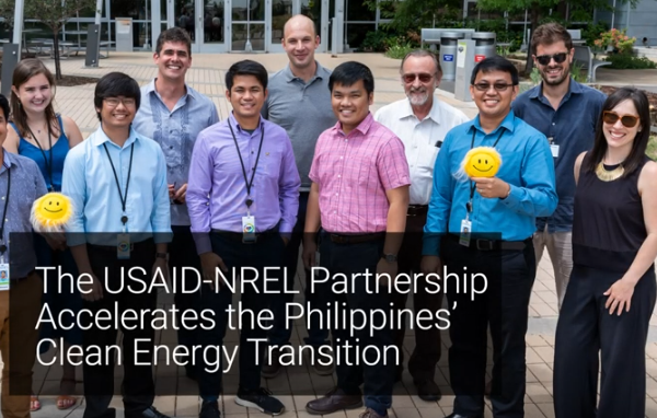 Photo (screenshot, cropped): National Renewable Energy Laboratory hosts clean power planning team from the Philippines.