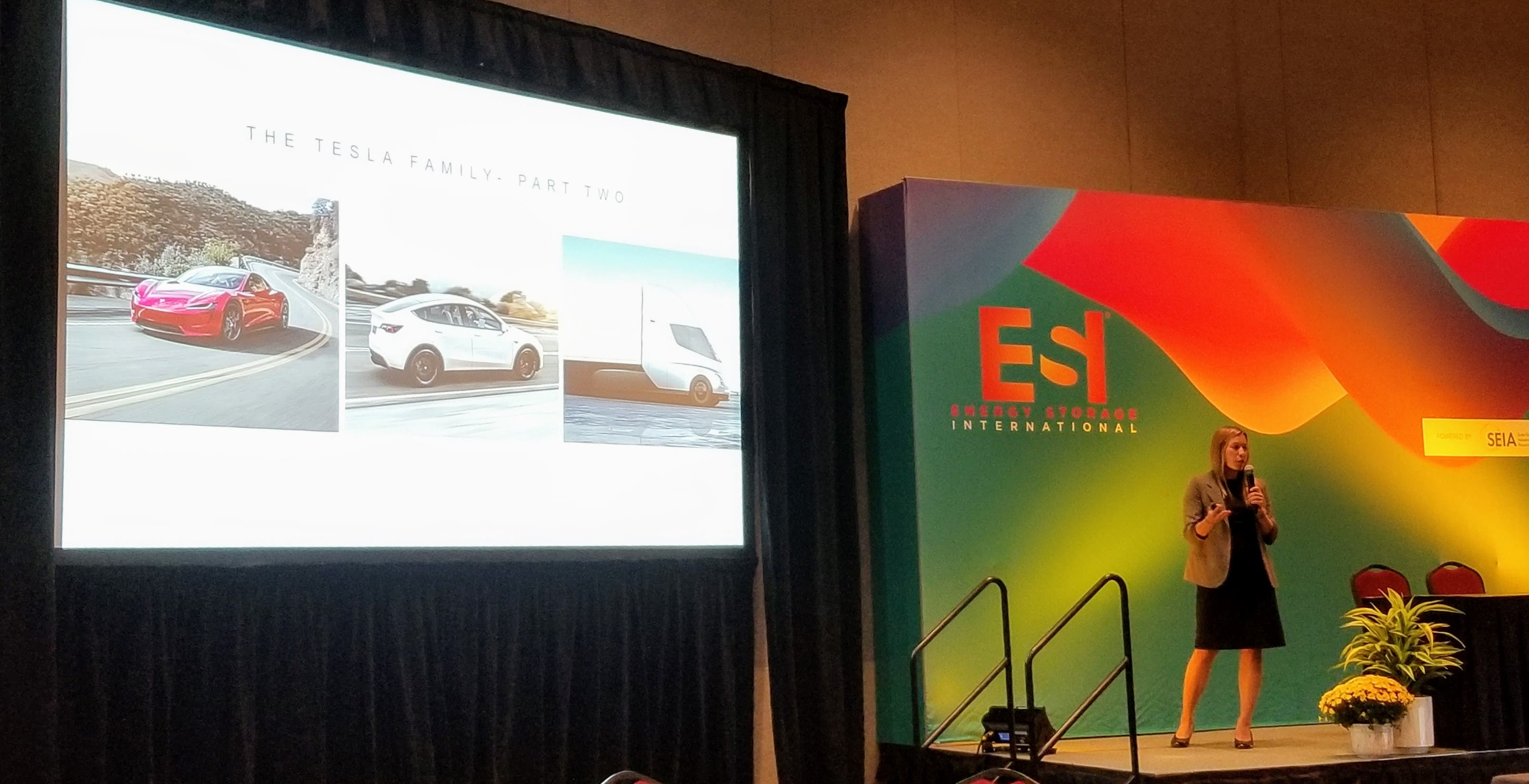 Tesla's Francesca Wahl shared the current state of Tesla with a focus on charging networks at Solar Power International 2019