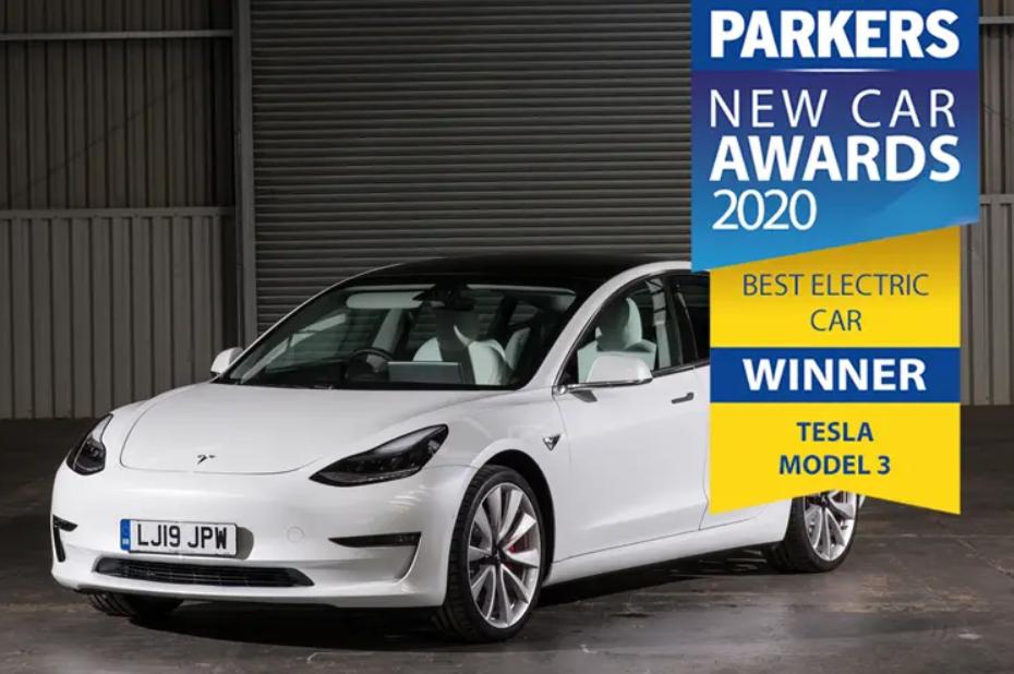 Tesla Model 3 Wins 4 Awards From UK Car Magazine Parkers ...