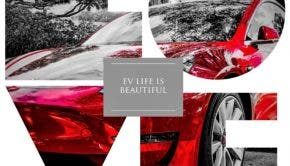 Tesla Model 3 Red LOVE Collage JRR | CleanTechnica