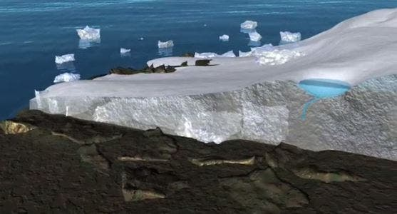 melting polar ice NASA