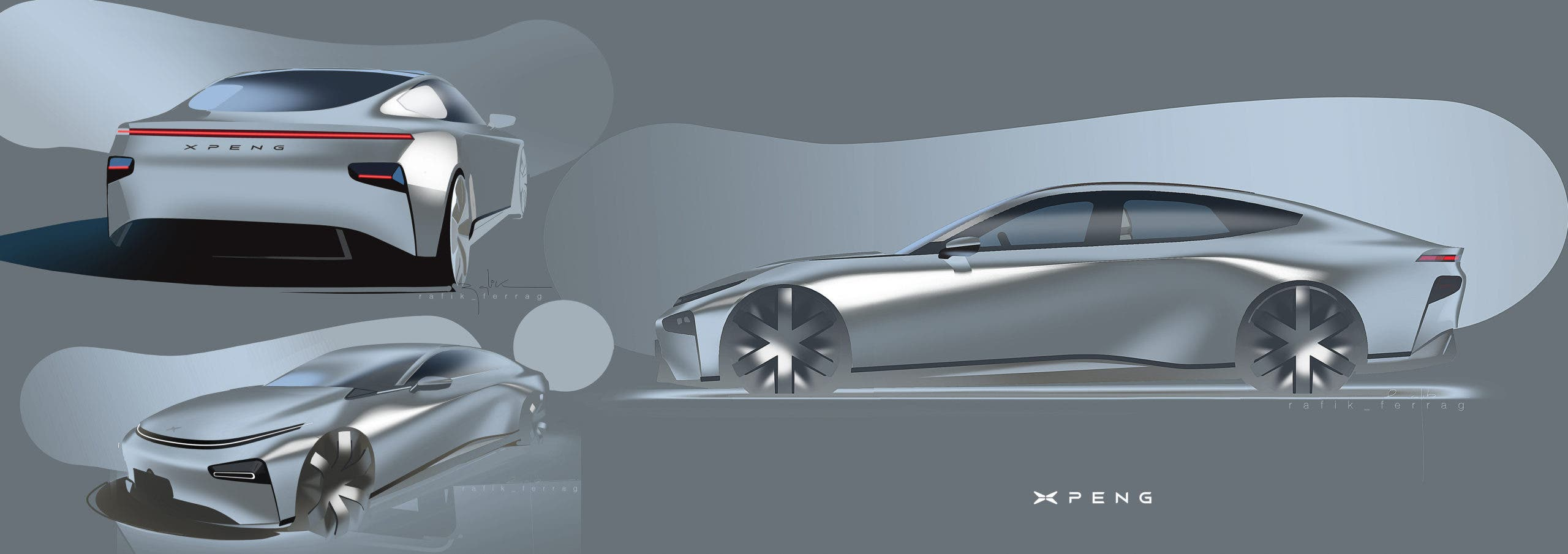 Xpeng Motors P7 Smart Coupe Sedan. Photo Xpeng Motors
