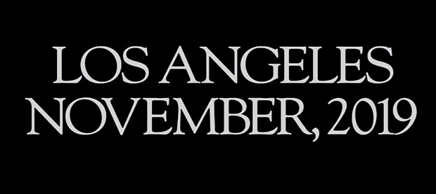 Blade Runner opening credits, same date and location as Tesla Pickup Truck unveiling - Los Angeles , Nov 2019.