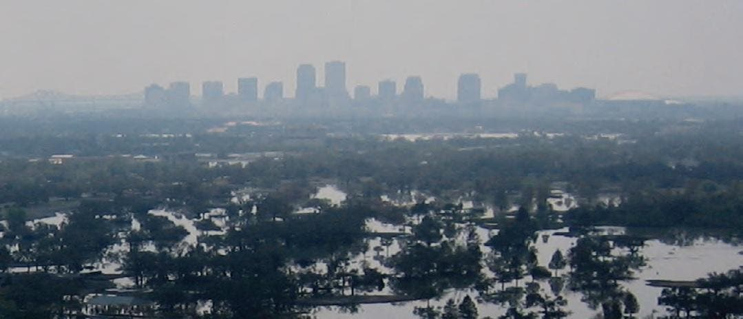New Orleans flooded in the aftermath of Hurricane Katrina
