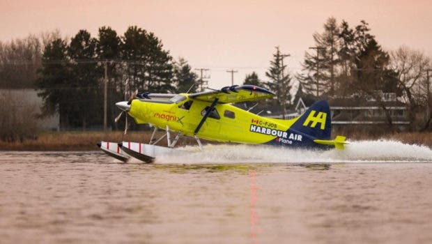 Harbour Air mangiX First Commercial Electric Seaplane Maiden Flight. Picture: https://www.harbourair.com/seaplane-to-eplane-flight-test-confirmed/