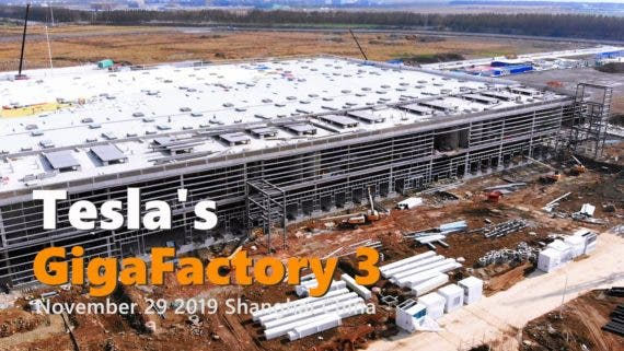 Watch Tesla Model 3 Hot Off The Production Line At Tesla Gigafactory Shanghai