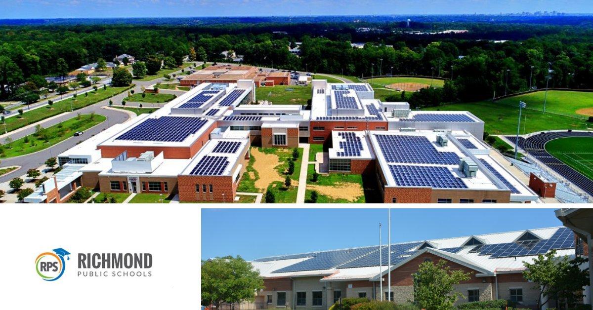 Rooftop Solar Power Richmond Public Schools Virginia