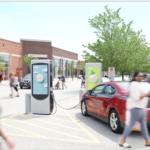 York Town Center with Volta Chargers; image used with permission