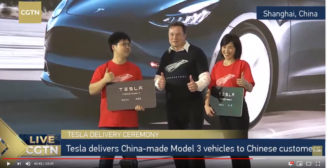 Tesla Kicks Off Delivery of China-Made Vehicles
