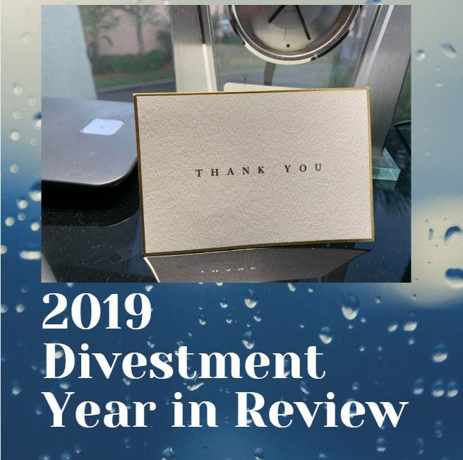 2019 Divestment Year In Review