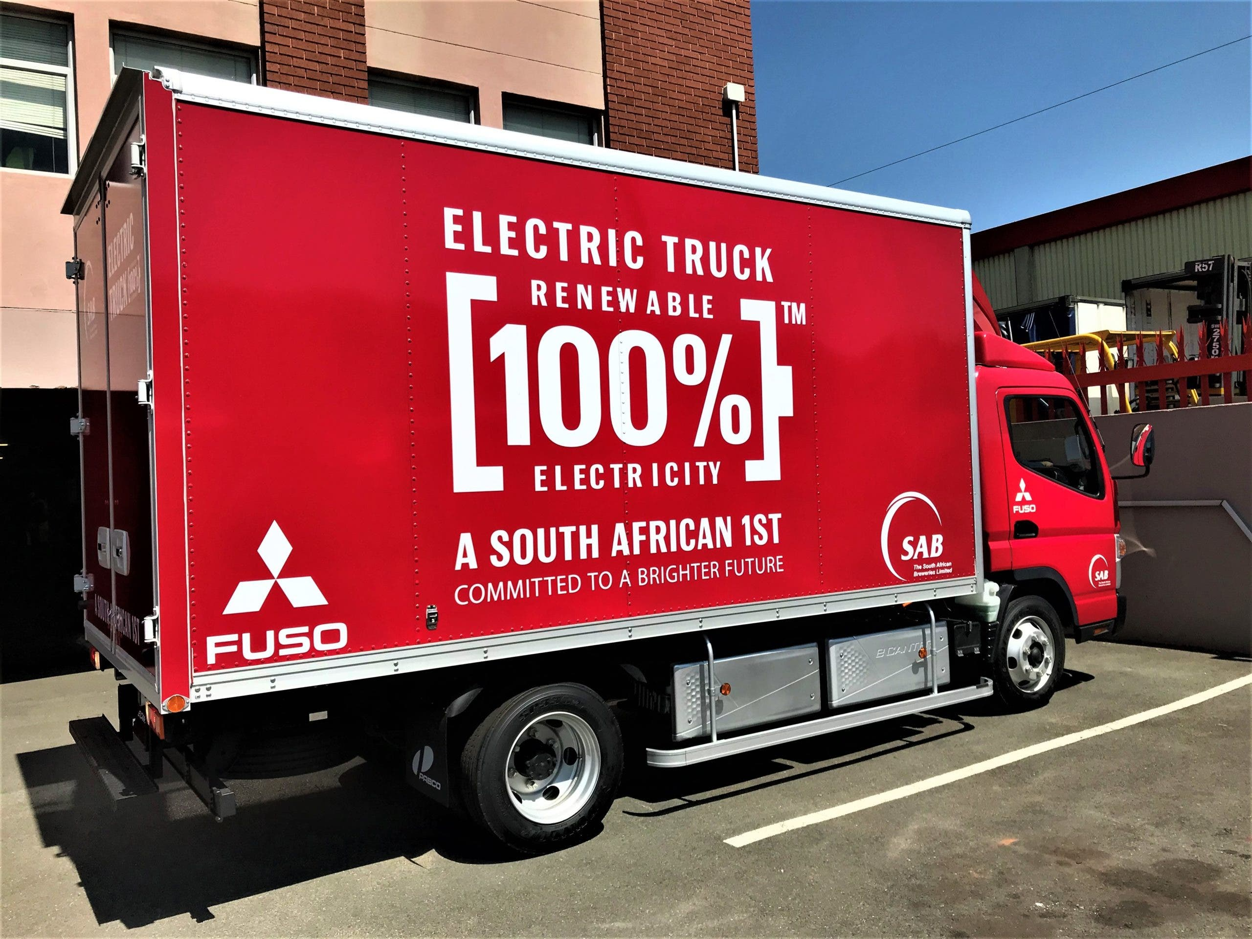 Anheuser-Busch InBev's South African Breweries Goes Electric With The Mitsubishi Fuso eCanter