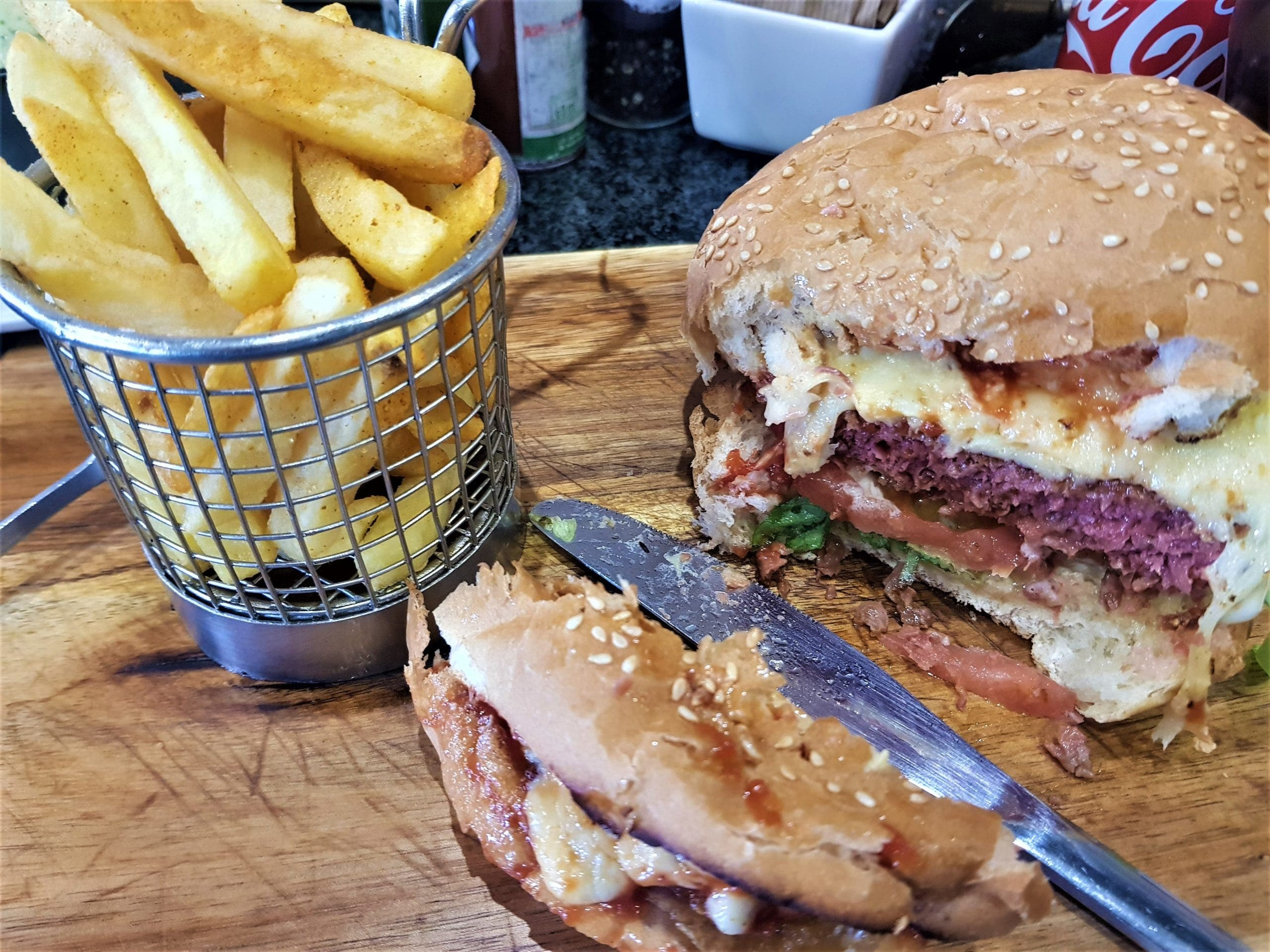 The Beyond Burger at Woolworths Café, Nicolway, Bryanston, Johannesburg, South Africa, Picture by Remeredzai Kuhudzai