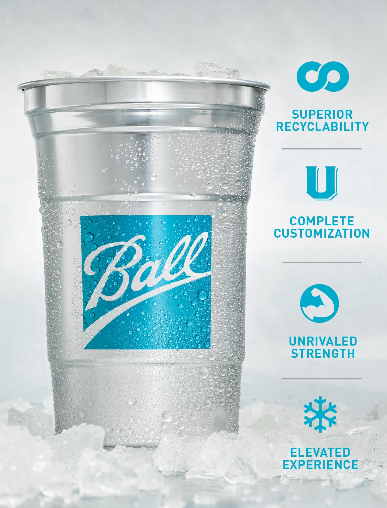 Ball aluminum drink cup