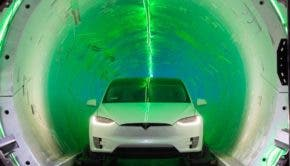 : Tesla Model X inside The Boring Company's test tunnel underneath the SpaceX offices (Image: The Boring Company)