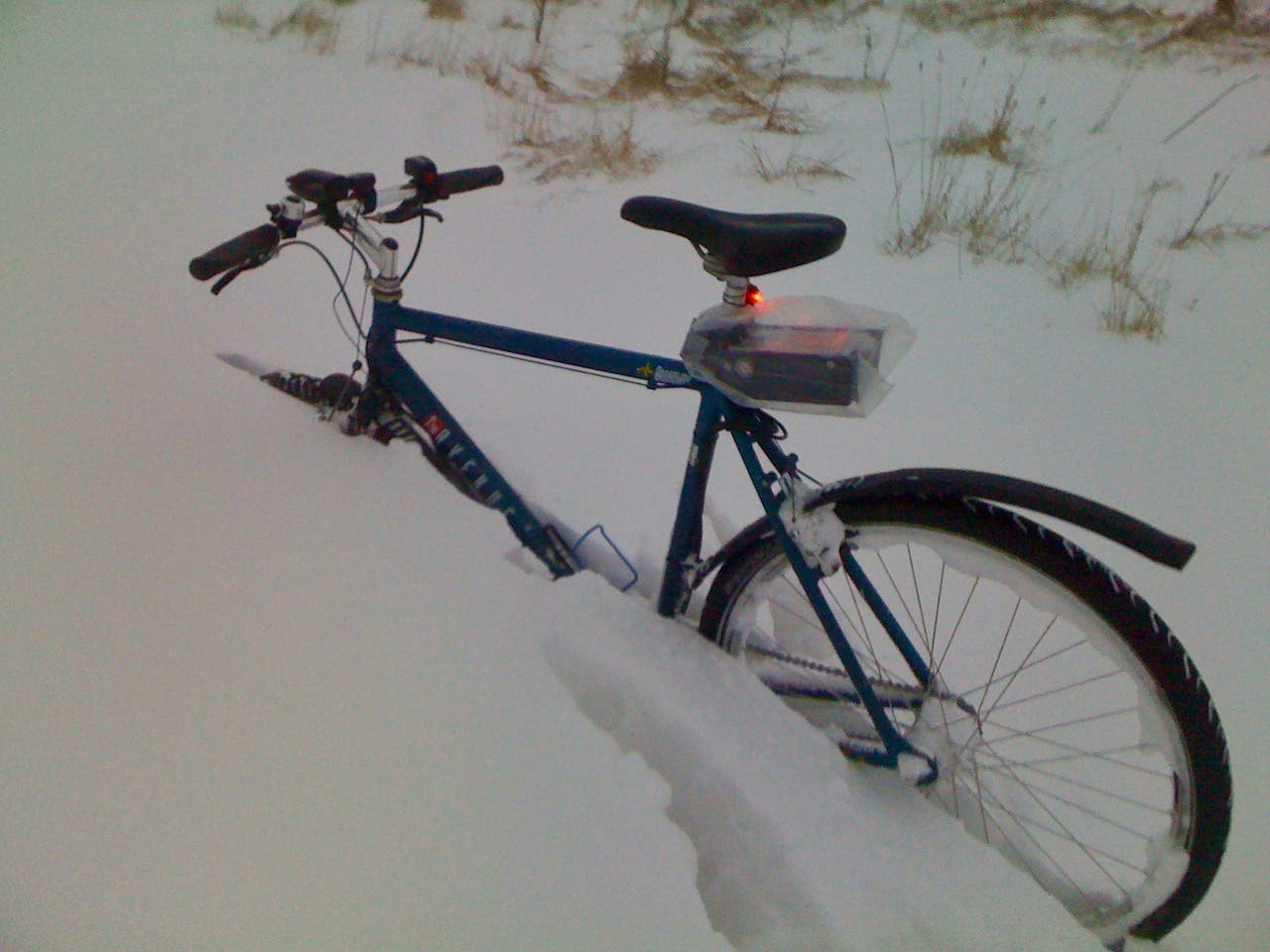 electric bike in snow