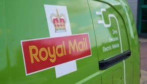 Royal Mail Logo on Electric Van