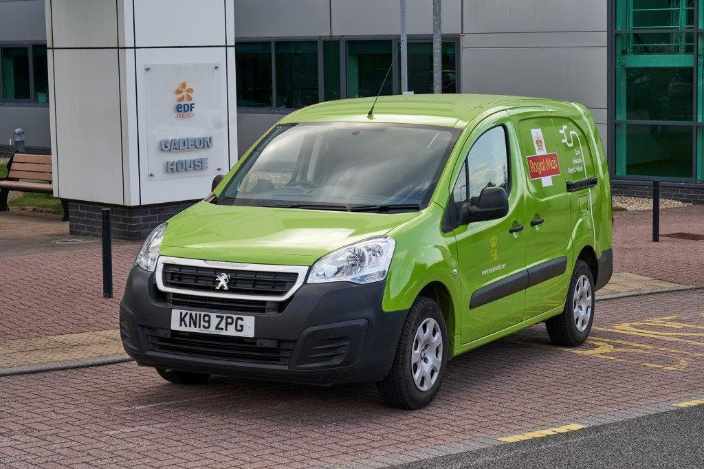 Royal Mail Electric Van Outside EDF's Exeter Offices