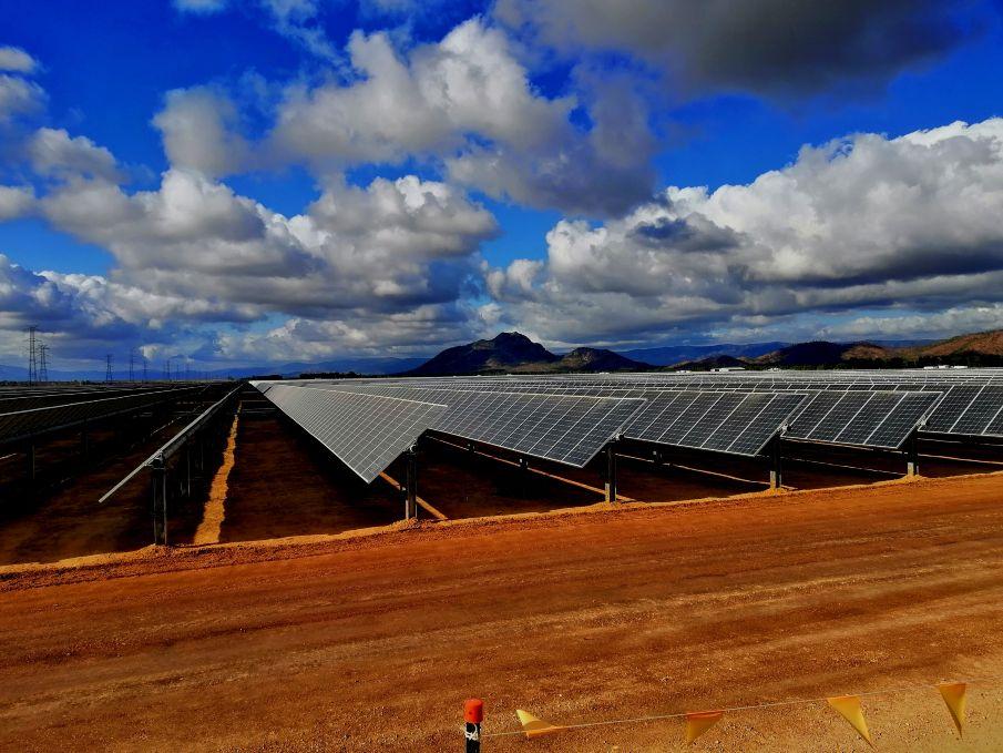 Solar power plant in Australia
