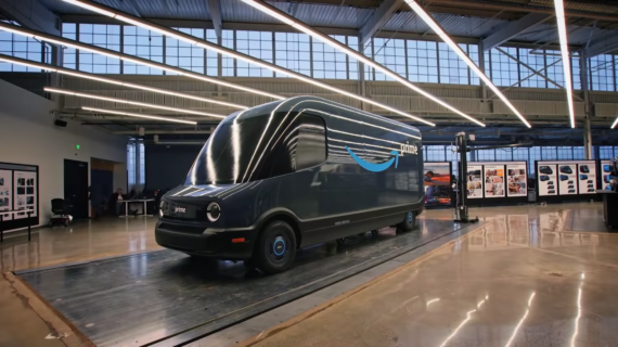 Amazon electric delivery van by Rivian