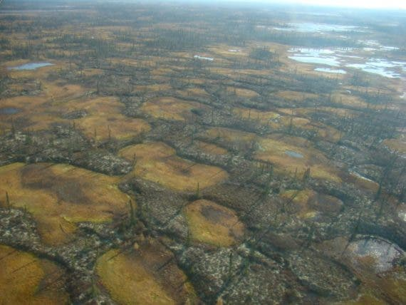 Fast-Thawing Permafrost Gouges Holes In The Arctic - CleanTechnica
