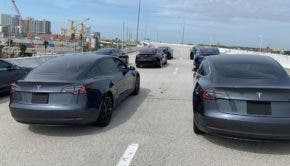 Recording of the Tesla Model 3 autonomous fleet on an expressway in Tampa - Click/Tap to open high-res images in new tab (Source: Blain Johnston via X Auto)