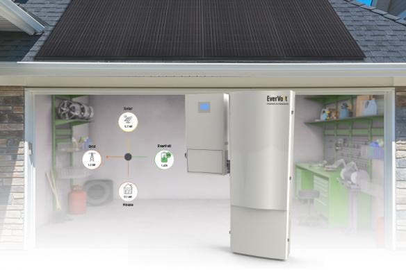Panasonic Evervolt system paired with a rooftop solar system
