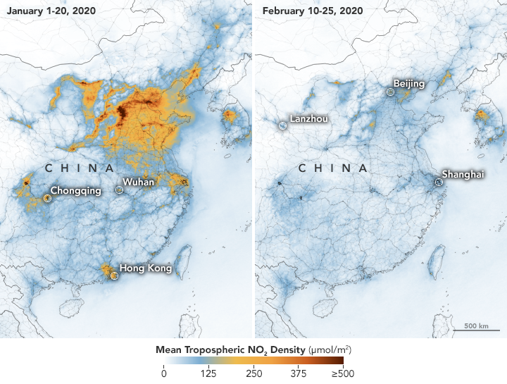 NO2 Pollution Over China