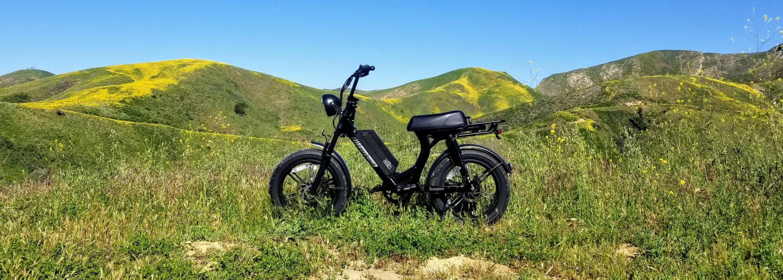 Sporting a throttle and a top speed of 28 miles per hour, the Juiced Scorpion is more of a moped than an e-bike