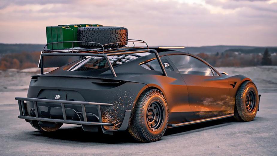 Tesla Roadster Apocalypse Concept Art