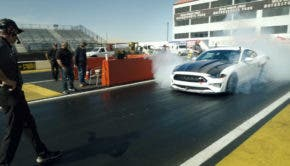 electric mustang cobra jet 1400 dragster burnout