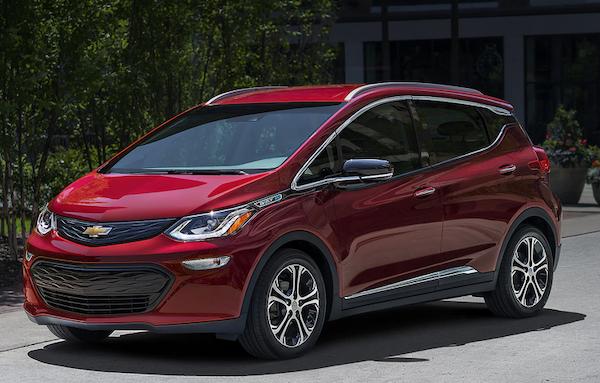 electric vehicles GM Bolt EV 2020