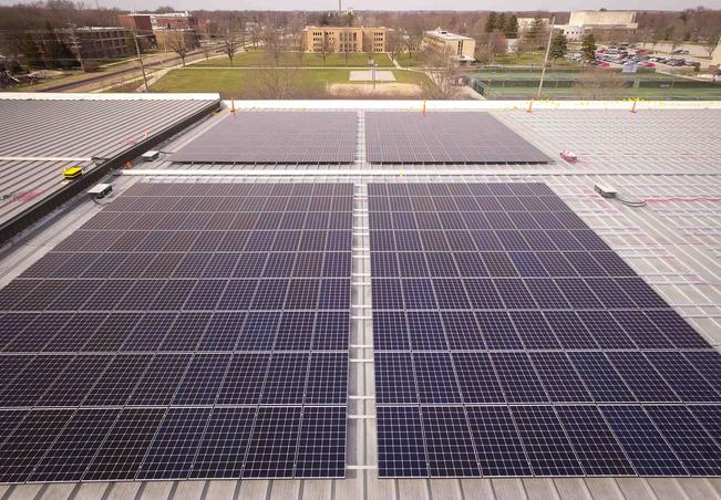 Solar installation at Goshen College (Source: Goshen College)