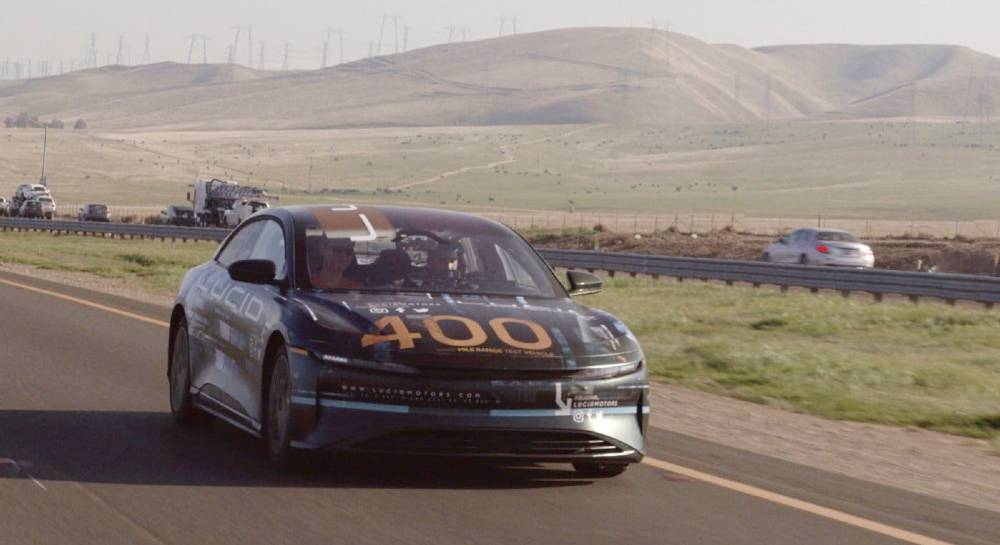 Lucid Air Range Test 400 Miles