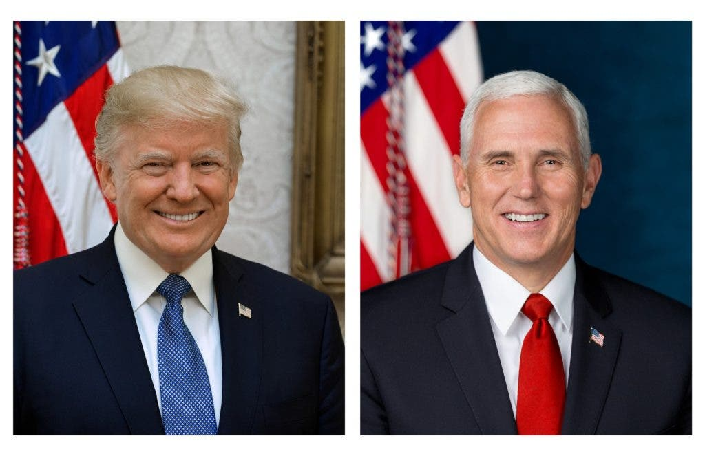 Trump and Pence official photo