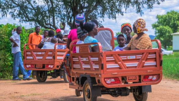 Mobility For Africa's Hamba Electric Three-Wheelers in Wedza, Zimbabwe. Image courtesy of Mobility For Africa