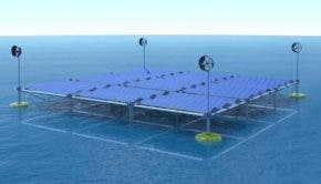 Sinn floating solar, wind and wave platform