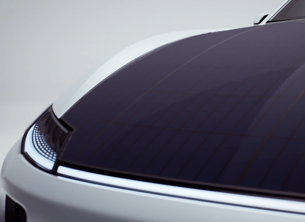 electric vehicle solar roof