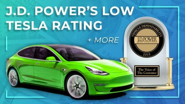 photo of J.D. Power Rates Tesla Electric Vehicles As Lowest Quality Auto Brand In 2020 Study image