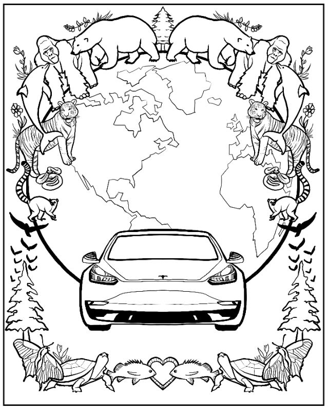 The Insanity & Inspiration Of Elon Musk Take Shape In New Coloring Book